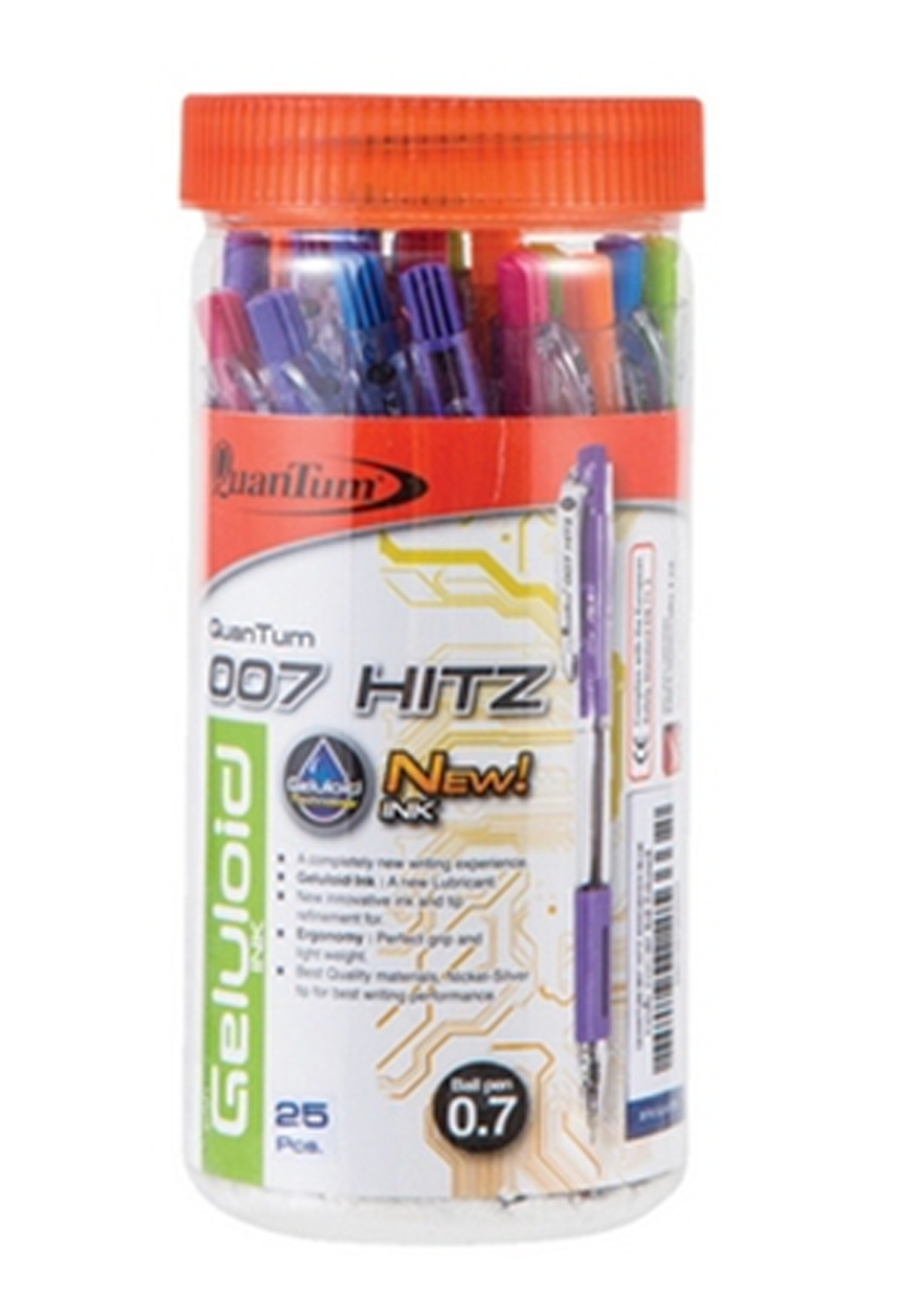ปากกาQuantumเจลโล่พลัส Hit 007 แดง