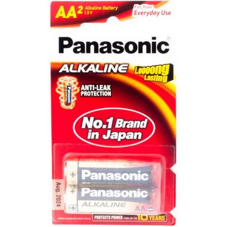 ถ่าน Panasonic ALKALINE LR6T/2B AA (1x2)