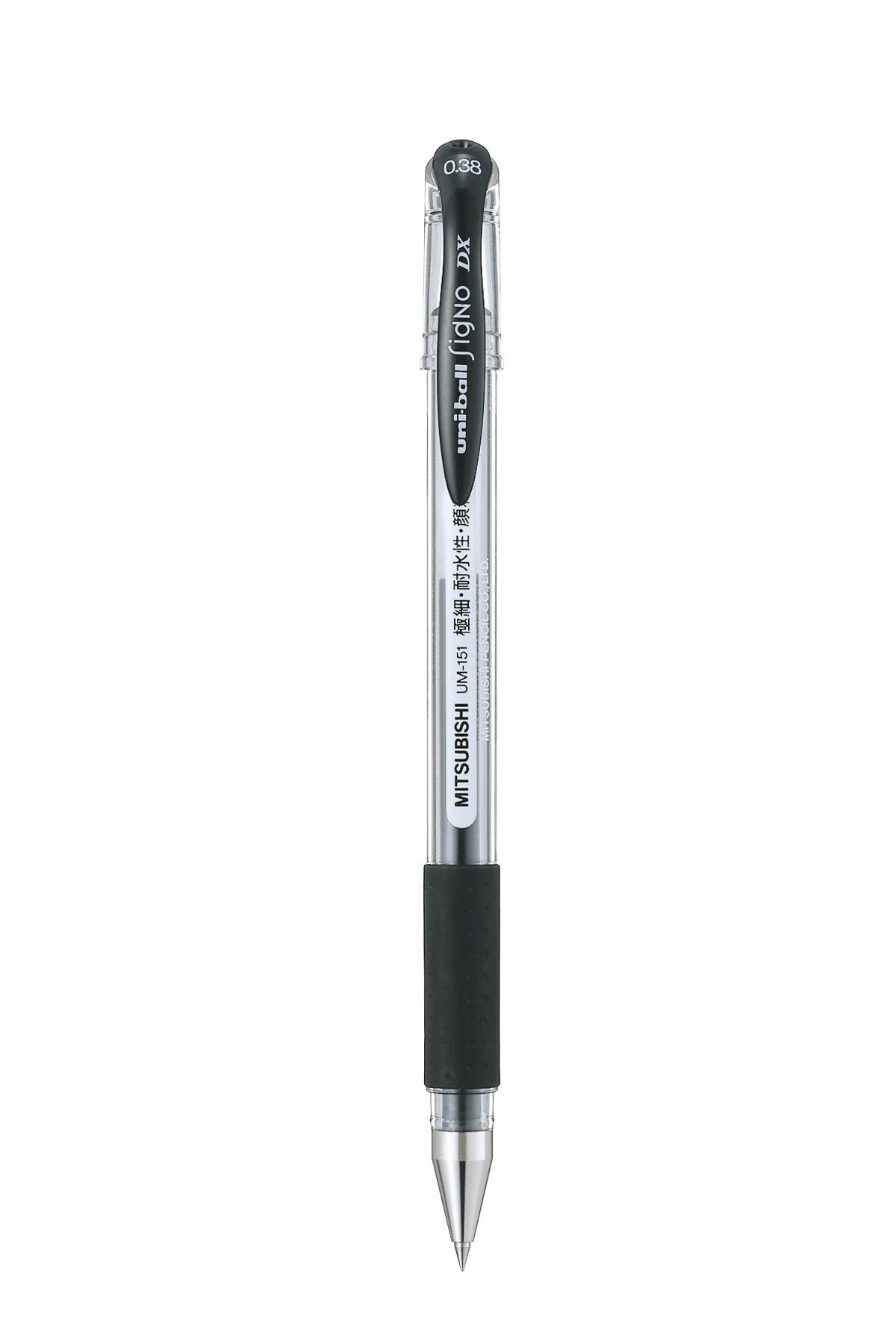 ปากกาหมึกเจล uni Signo DX UM-151 สีดำ 0.38 มม.
