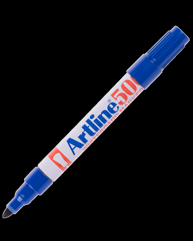 ปากกาไวท์บอร์ดหัวกลม Artline EK-500A สีน้ำเงิน 2 มม.
