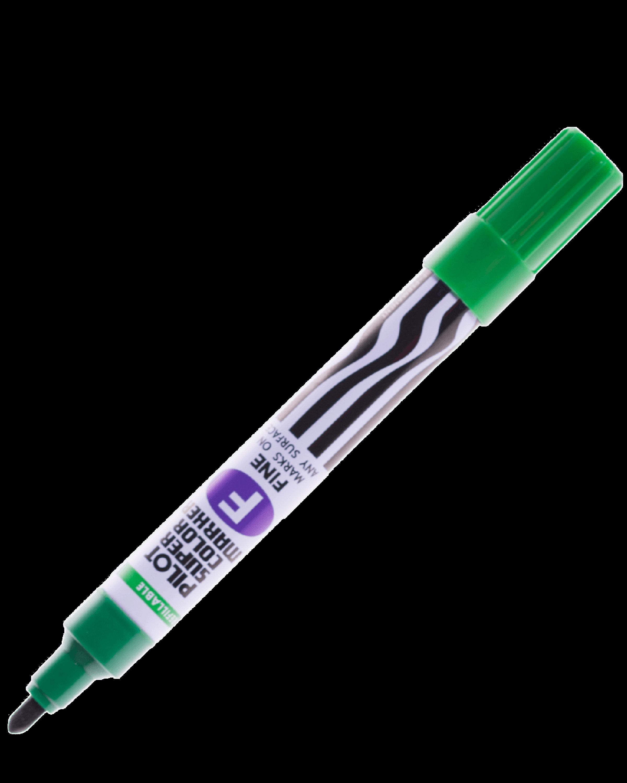 ปากกาเคมีหัวกลม Pilot SCN-F สีเขียว 2.5 มม.