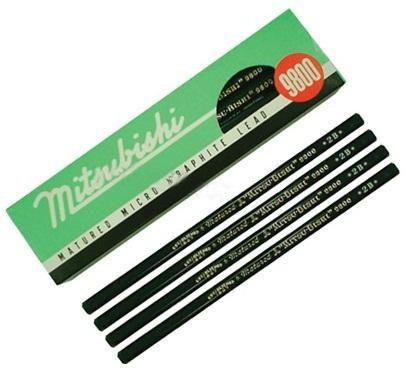 ดินสอดำ2B MITSUBISHI 9800