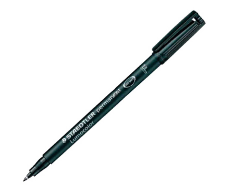ปากกาเขียนแผ่นใส ลบไม่ได้ Staedtler 318 (F) สีดำ 0.6 มม.