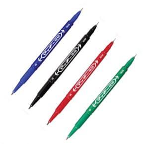 ปากกาเคมี 2 หัว ZEBRA MO-120-MC-BK สีดำ