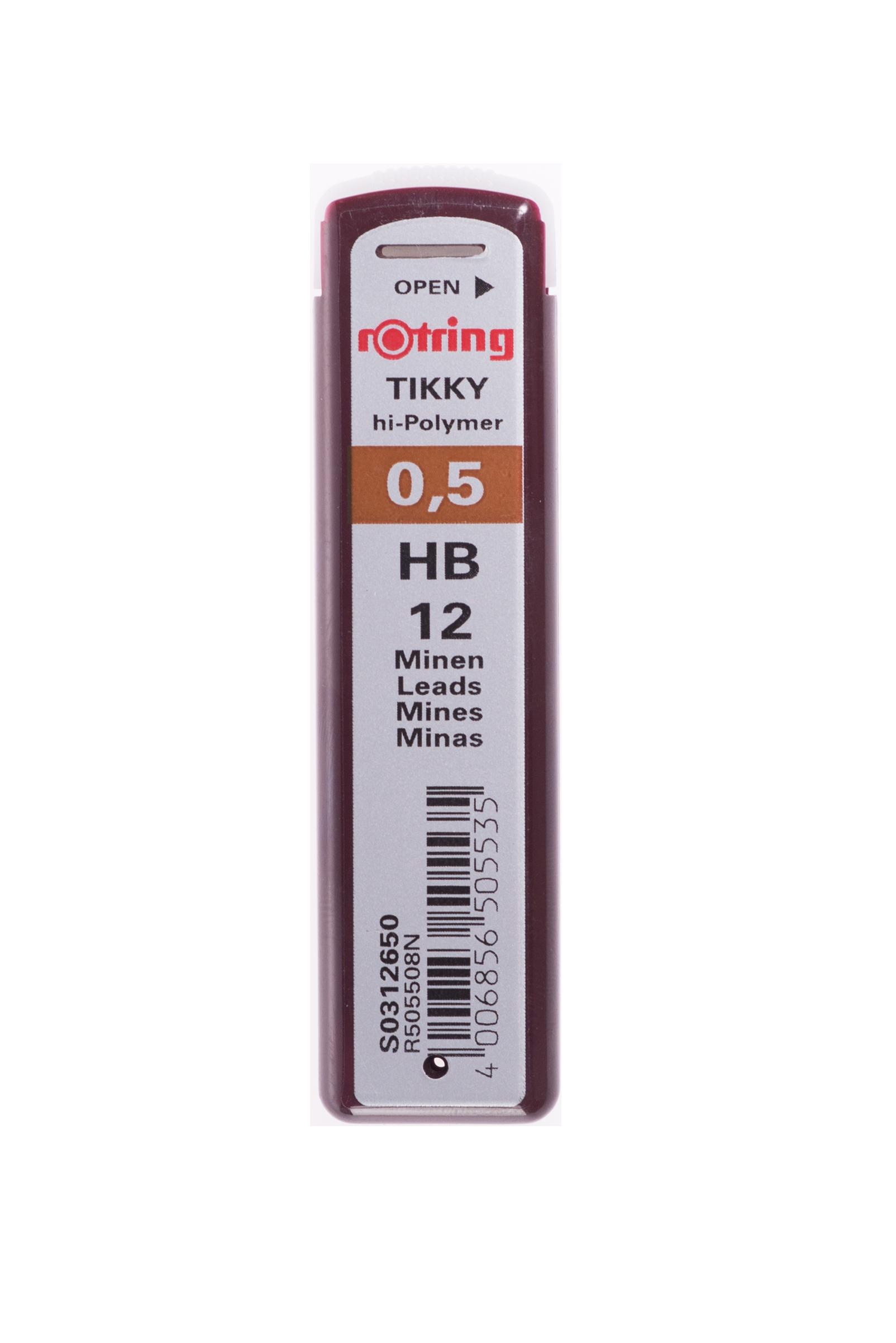 ไส้ดินสอร้อตตริ้ง ติ๊กกี้  Hi-Polymer 0.5 mm. HB