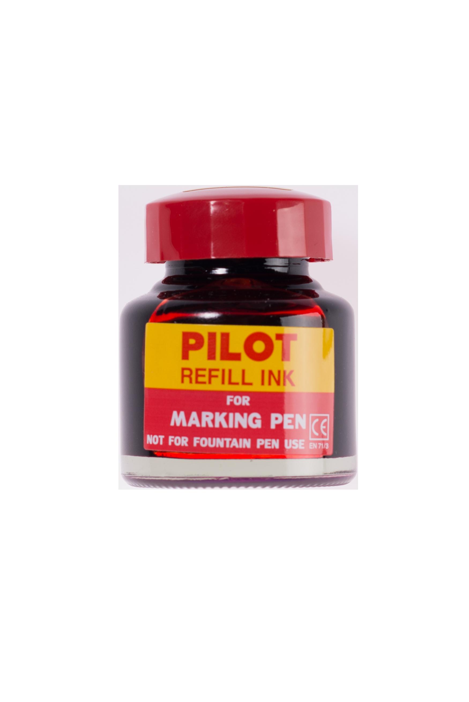 หมึกเติมปากกาเคมี Pilot สีแดง 30 cc.
