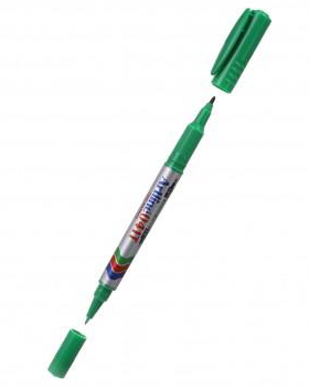 ปากกาเคมี 2หัว Artline EK-041T (หัวแหลม0.4มม./1.0มม.) สีแดง