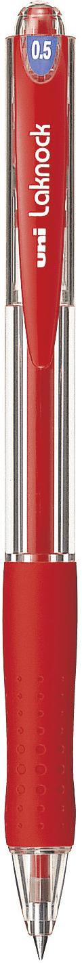 ปากกาลูกลื่นแบบกด uni Laknock SN-100 สีแดง 0.5 มม.