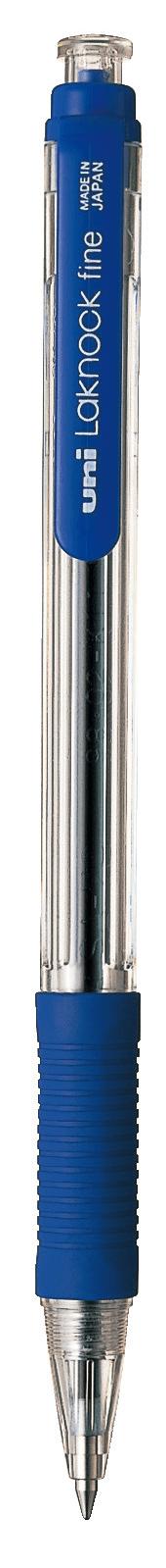 ปากกาลูกลื่น uni Laknock Fine SN-101 สีน้ำเงิน 0.7 มม.