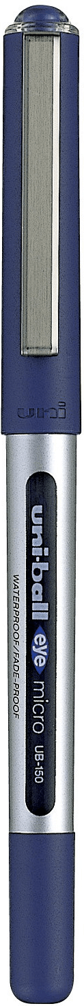 ปากกาโรลเลอร์บอล uni Eye Micro UB-150 สีน้ำเงิน 0.5 มม.