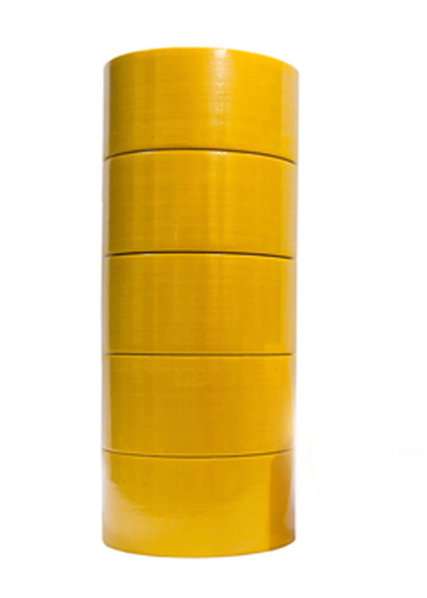 เทปผ้า LION สีเหลือง 48 มม.x 8 หลา