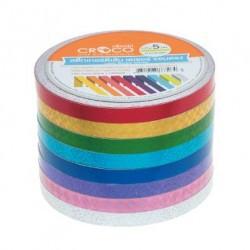เทปตีเส้น Croco PVC สีฟ้า 5 มม.x9 หลา