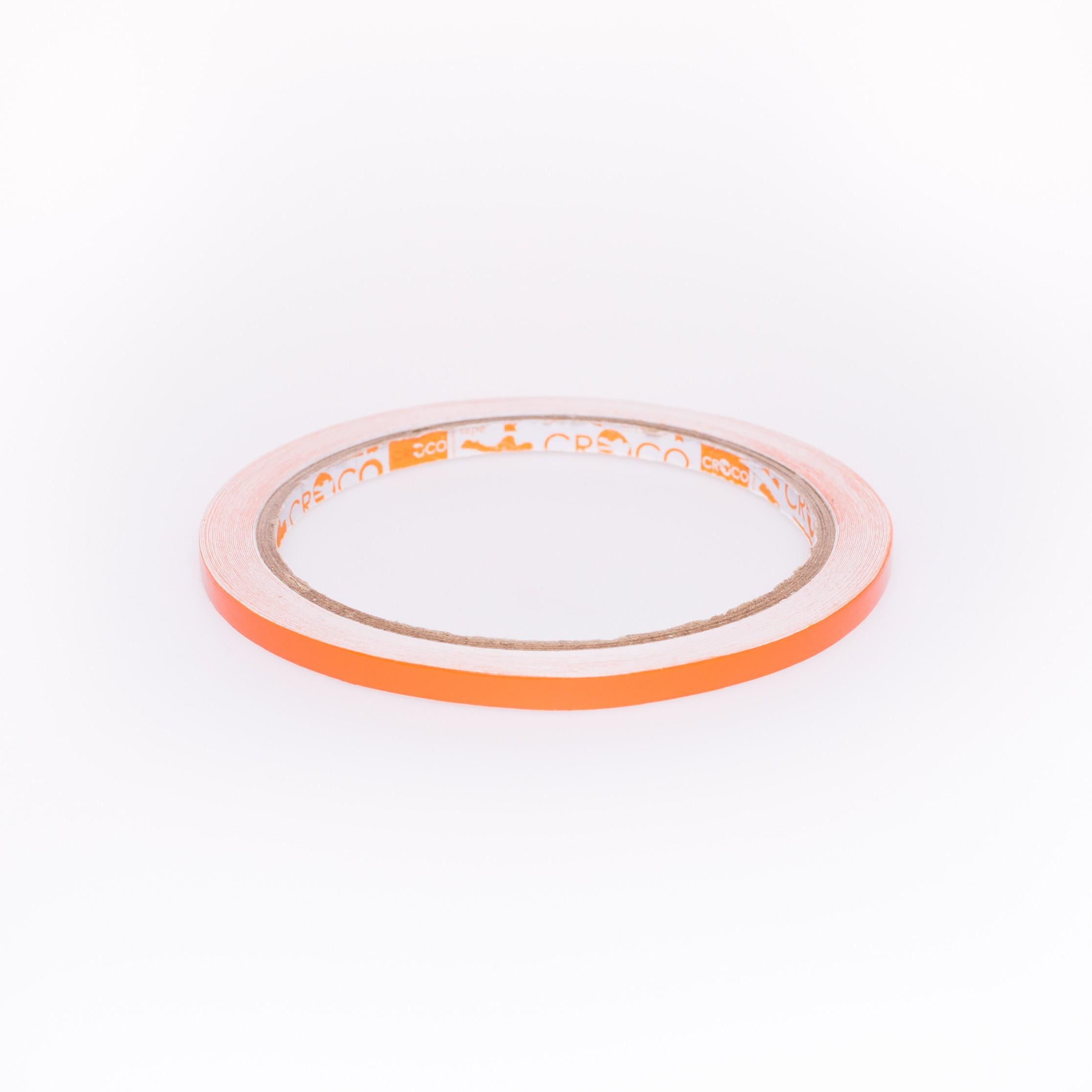 เทปตีเส้น Croco PVC สีส้ม 5 มม.x9 หลา