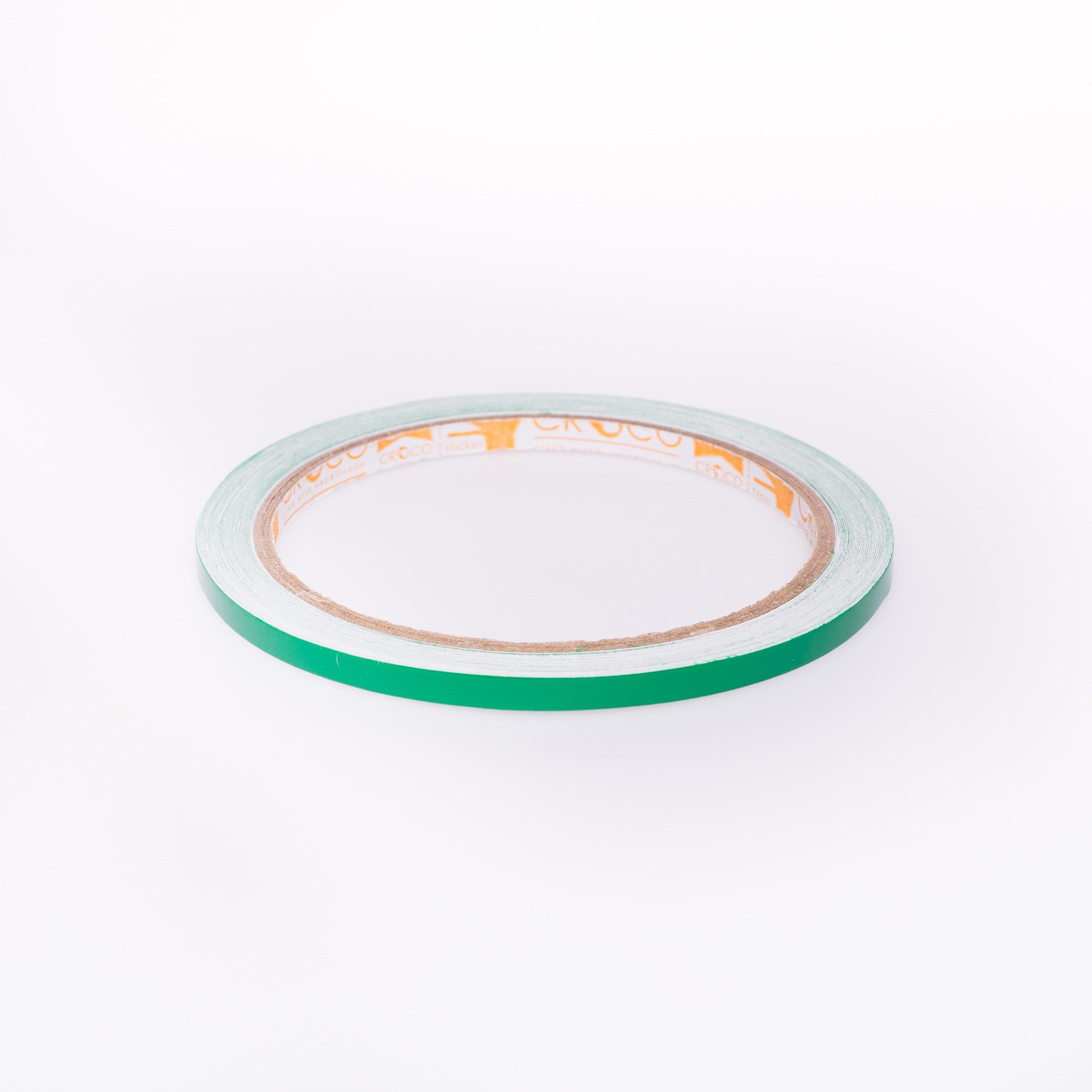 เทปตีเส้น Croco PVC สีเขียวเข้ม 5 มม.x9 หลา