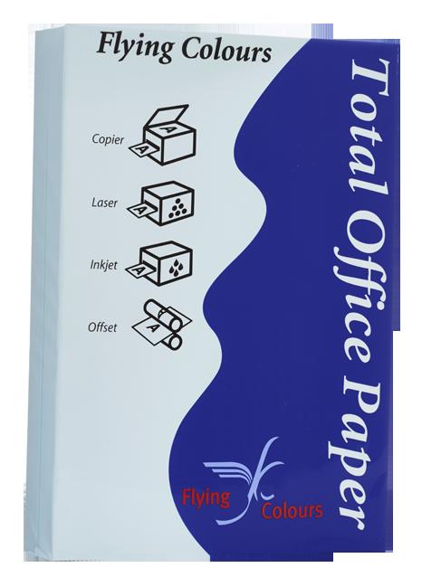 กระดาษถ่ายเอกสารสี Flying 8 สีฟ้าอ่อน A4 / 80 แกรม (1x500)