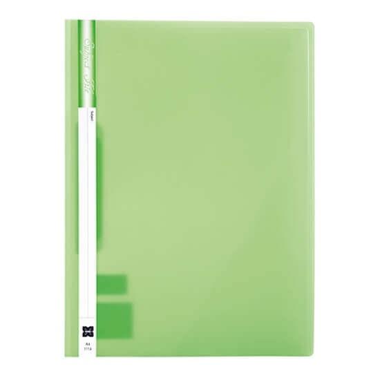 แฟ้มเจาะพลาสติก Xing 1114 สีเขียว A4