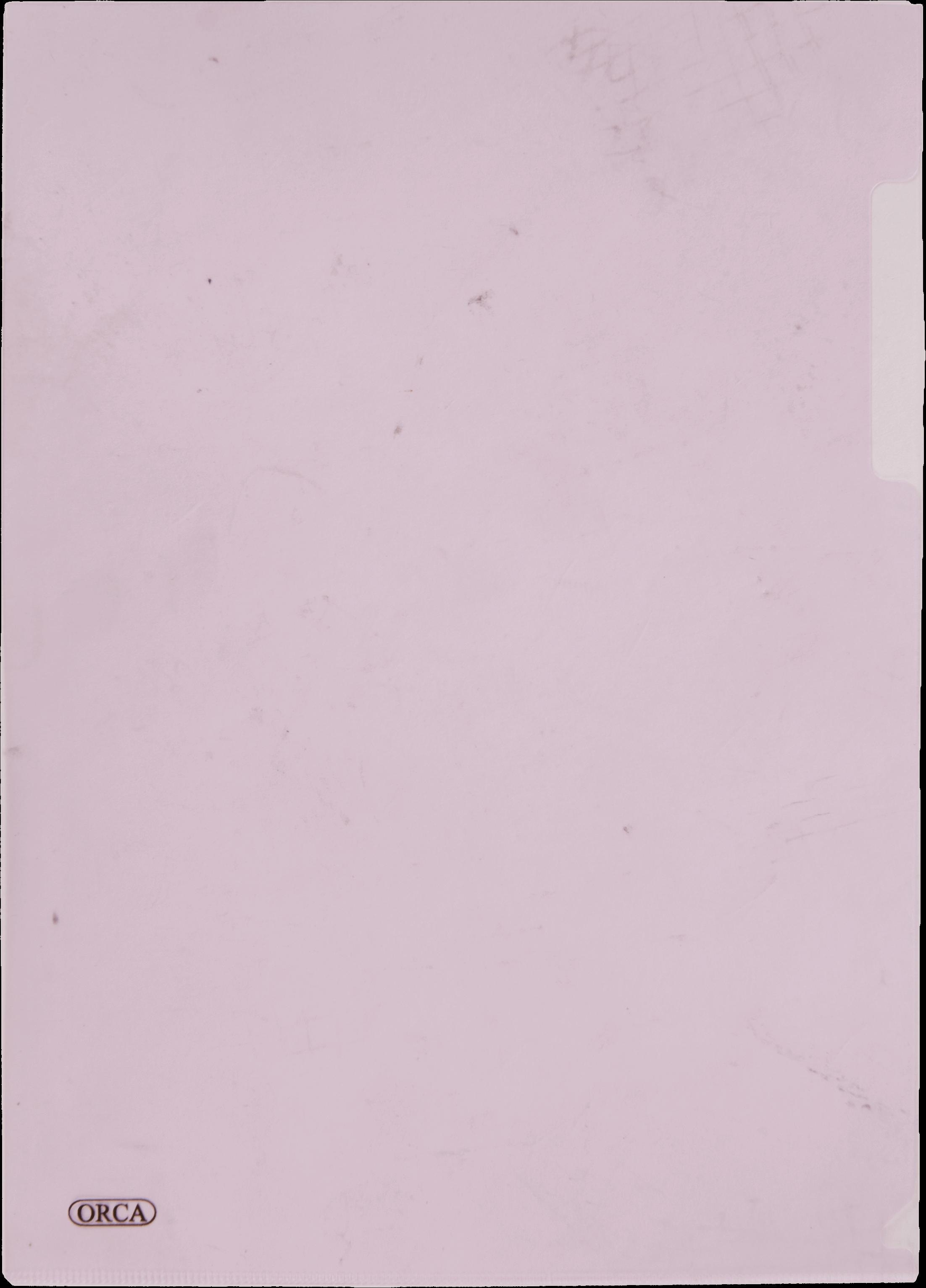 แฟ้มซองพลาสติก Orca 1 ชั้น สีชมพู A4