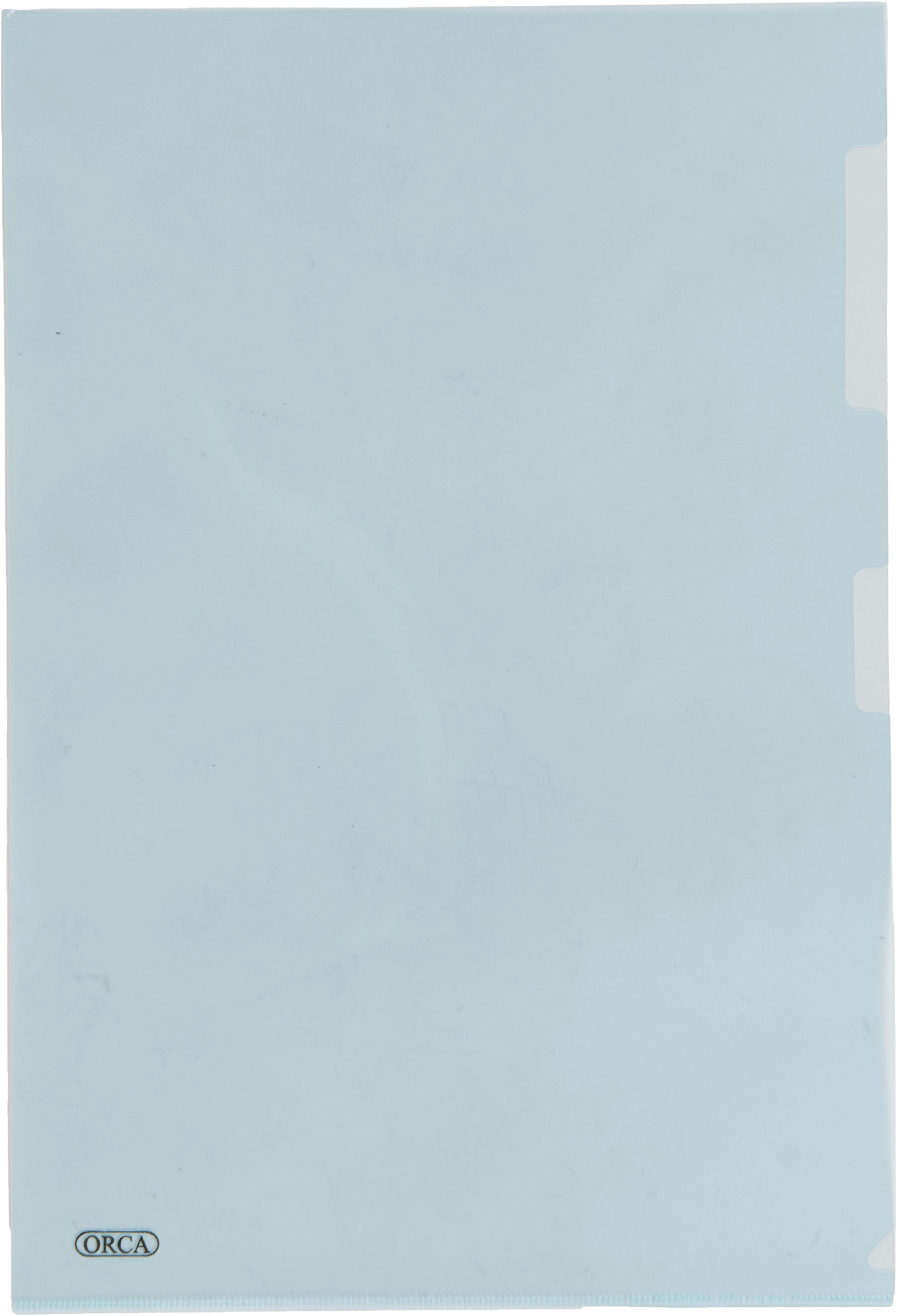 แฟ้มซองพลาสติก Orca 1 ชั้น สีฟ้า F4
