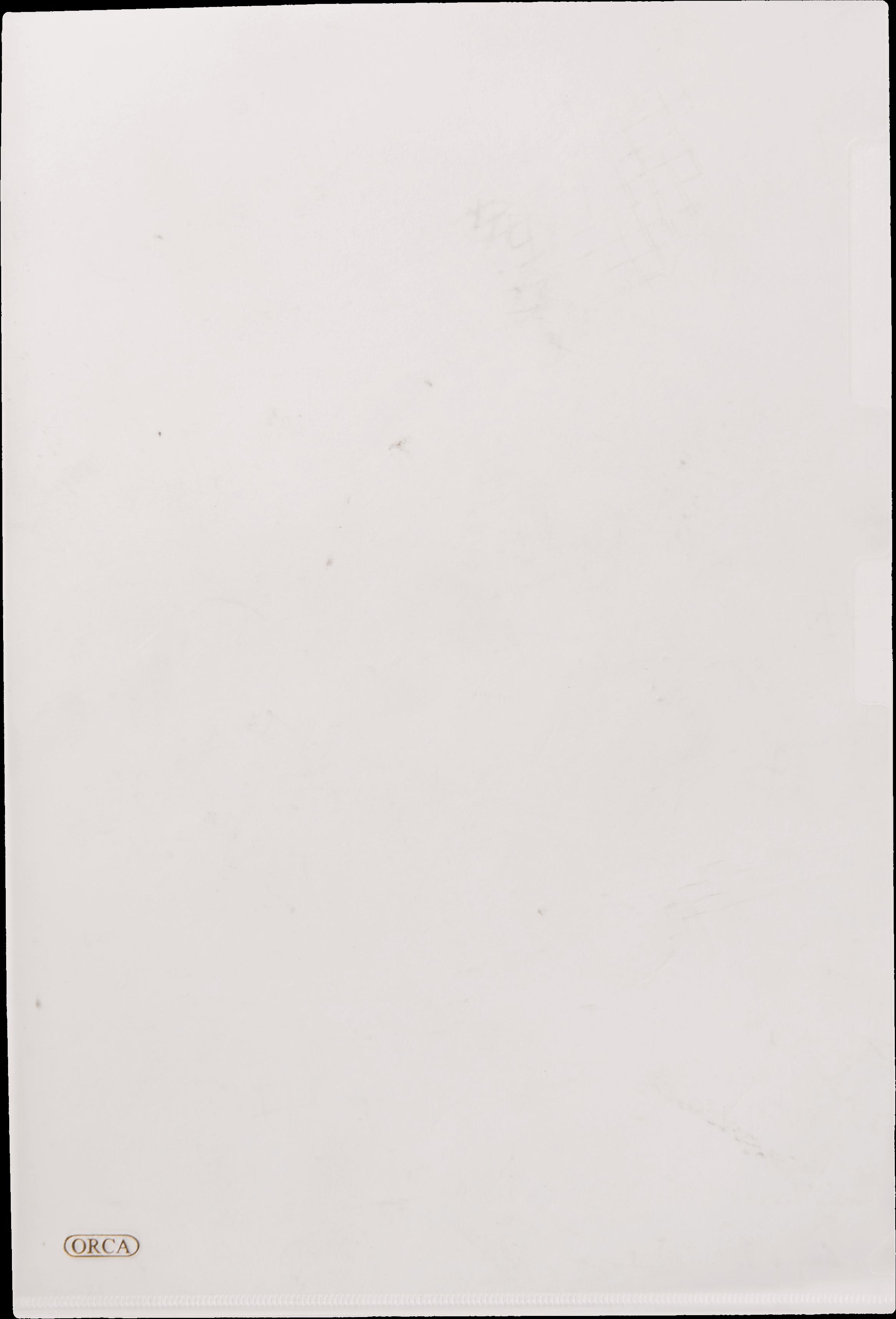 แฟ้มซองพลาสติก Orca 1 ชั้น สีขาว F4