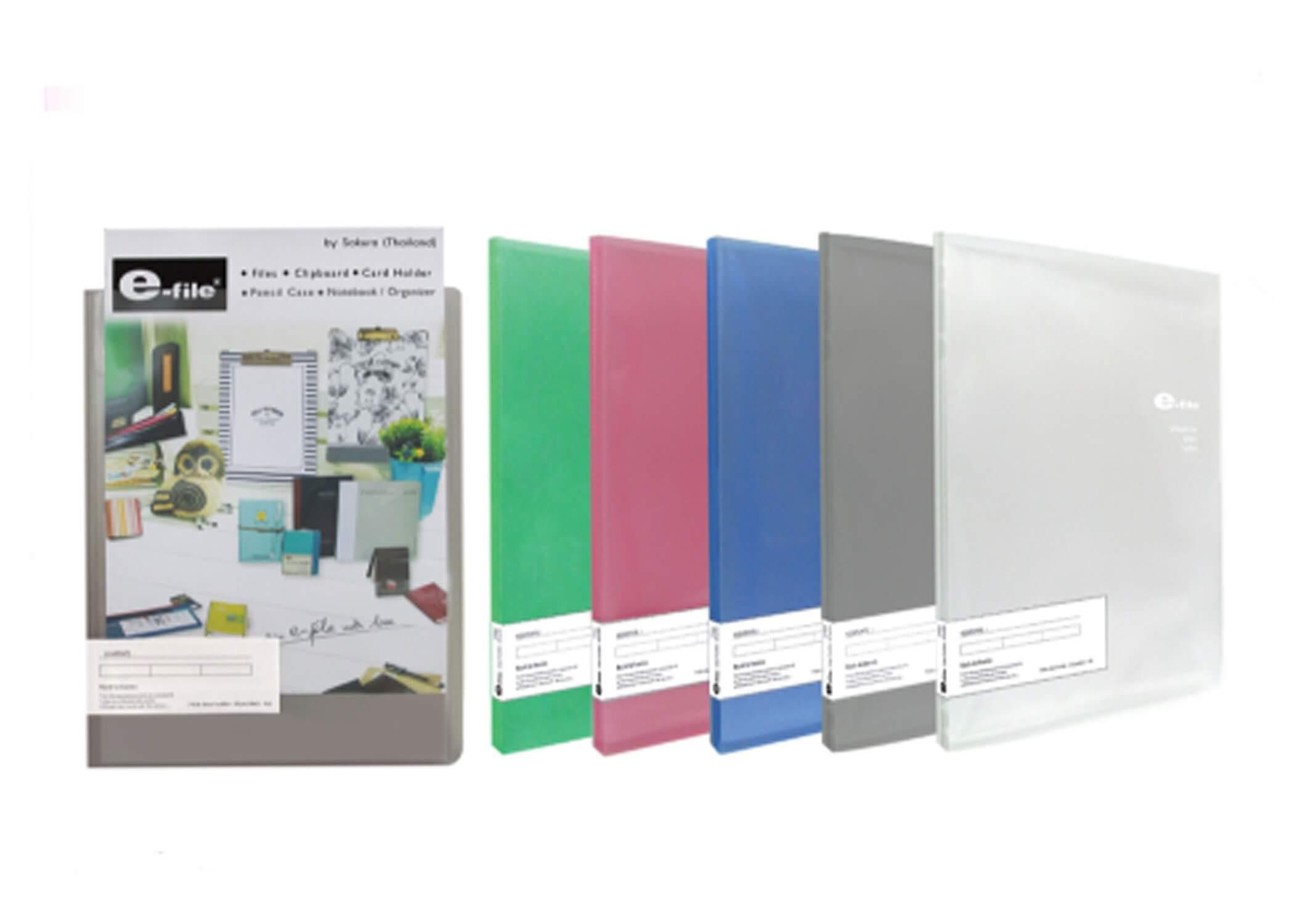 แฟ้มโฮลเดอร์ e-file 720A สีใส
