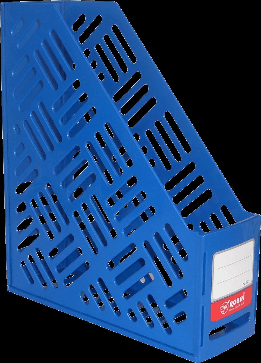 กล่องใส่เอกสารพลาสติก 1 ช่อง Robin 121 สีน้ำเงิน