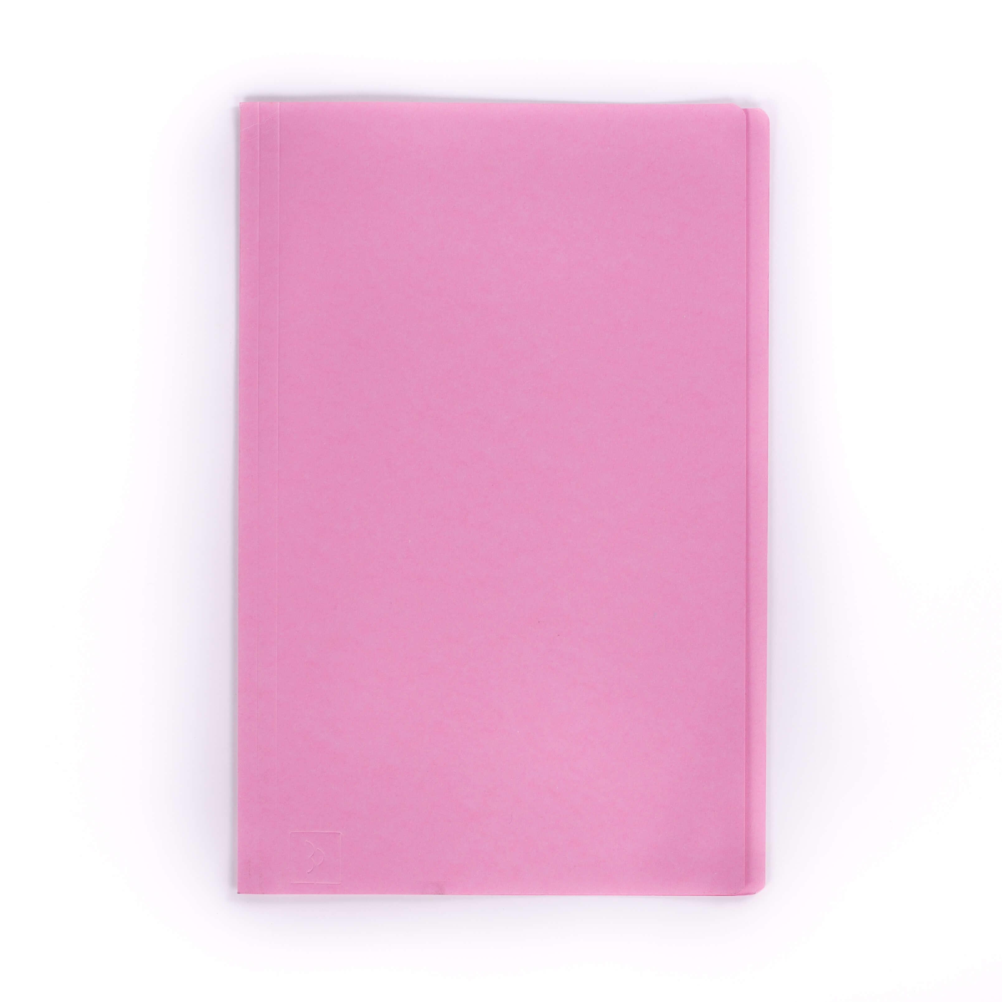 แฟ้มพับกระดาษ ตราใบโพธิ์ สีชมพู F4