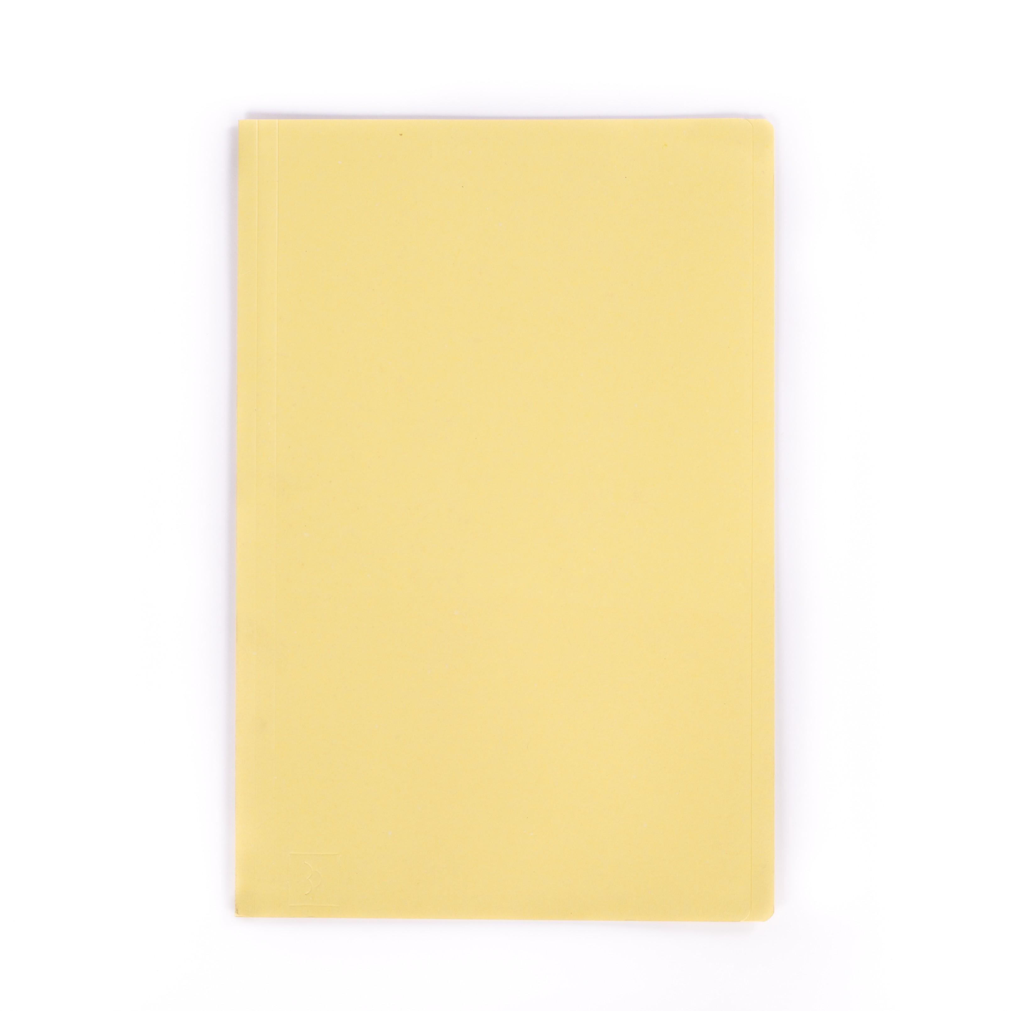 แฟ้มพับกระดาษ ตราใบโพธิ์ สีเหลือง F4