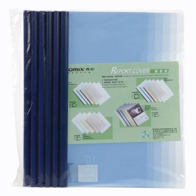 แฟ้มสันรูด Comix Q310 สีน้ำเงิน A4/5 มม. (1x6)