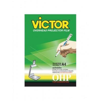 แผ่นใสสำหรับเขียน VICTOR A4/150 ไมครอน