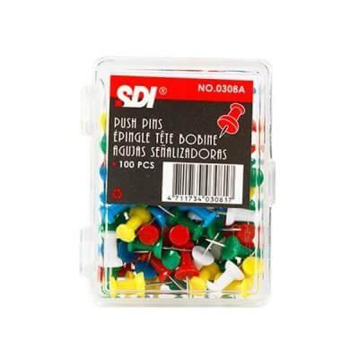 หมุดปักบอร์ดหัวหลอดด้าย SDI 0308A คละสี