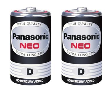 ถ่านไฟฉาย Panasonic NEO R20NT/2SL สีดำ D (1x2)