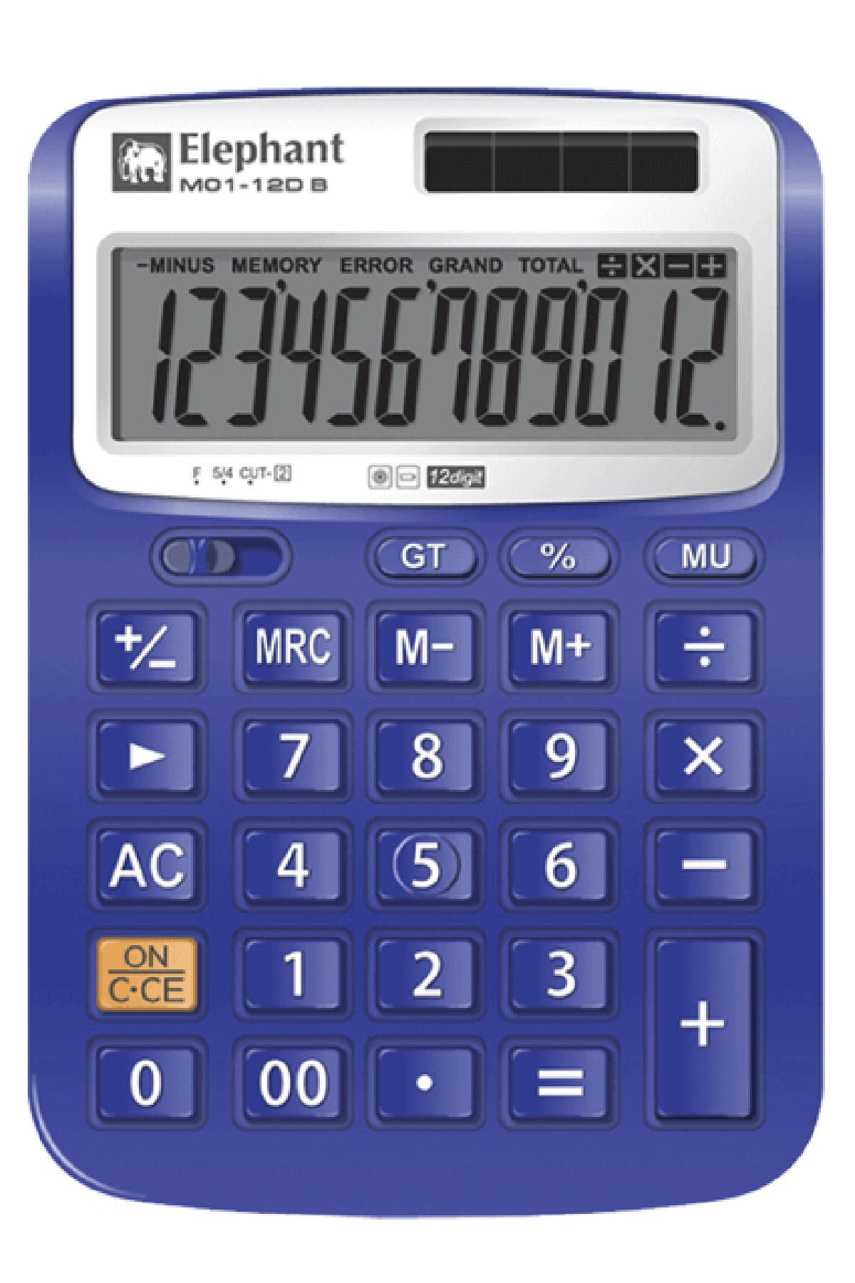 ตราช้าง เครื่องคิดเลข รุ่น M01-12DB