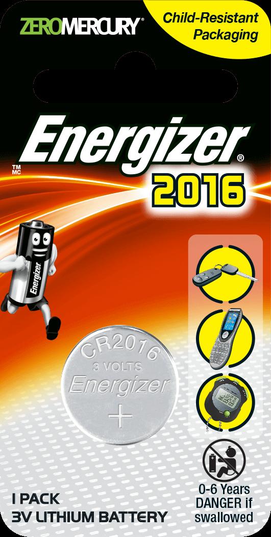 ถ่านกระดุม/ถ่านขนาดเล็ก Energizer  ECR-2016