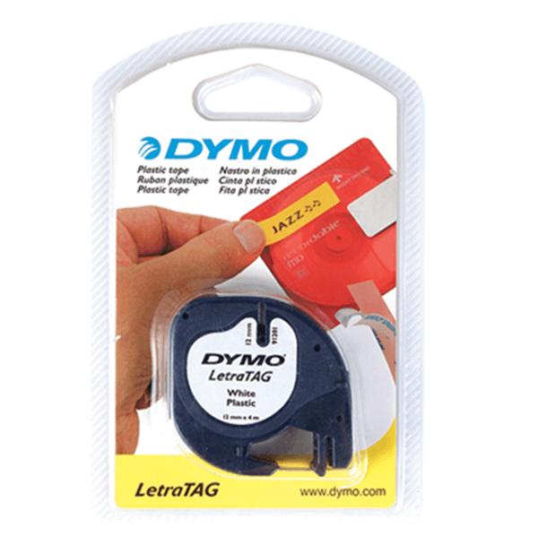 เทปปั๊มอักษร DYMO ลีตร้าแทค 91201  สีขาว