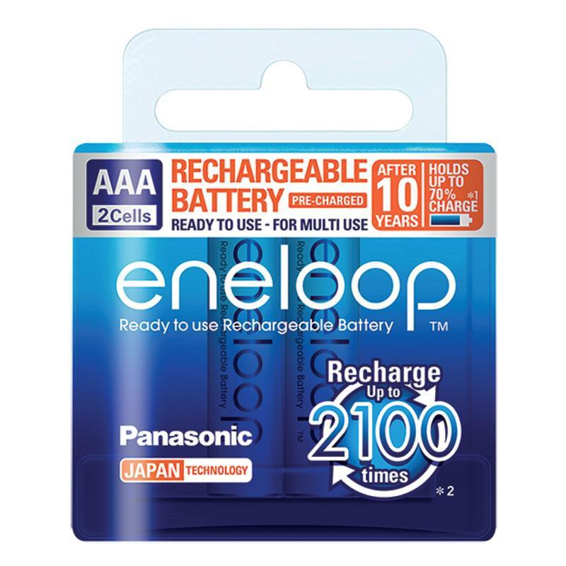 ถ่านชาร์จ Panasonic Eneloop 2000 mAh AAA BK-4MCCE/2NT