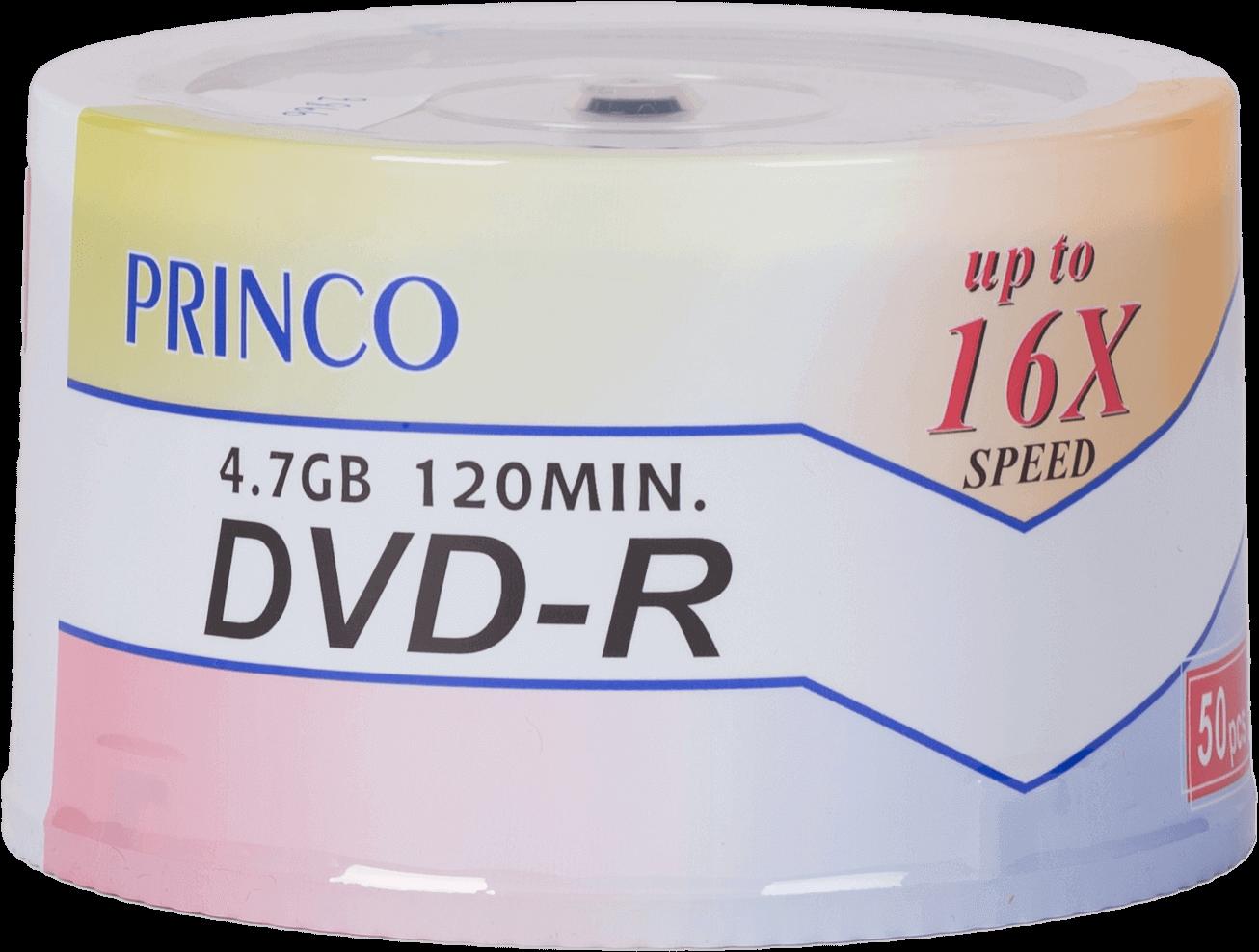 DVD-R ชนิดหลอด Printable PRINCO 16x 4.7GB/120MIN (1x50)