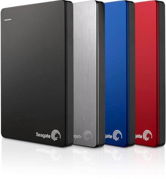 ฮาร์ดดิสก์ Seagate New Backup Plus Portable (Slim) External HDD 2TB สีเงิน