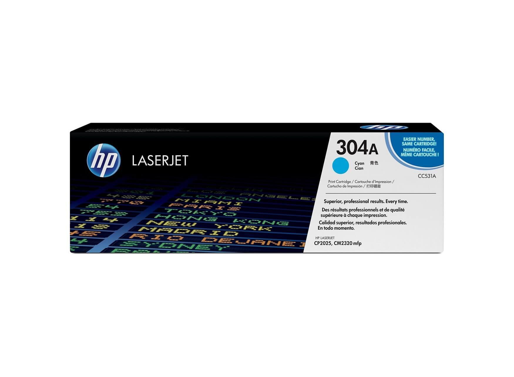 ตลับหมึก โทนเนอร์ HP 304A (CC531A) สีฟ้า