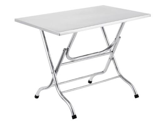 โต๊ะพับ สี่เหลี่ยมแตนเลส ขนาด 70x120x75 ซม.