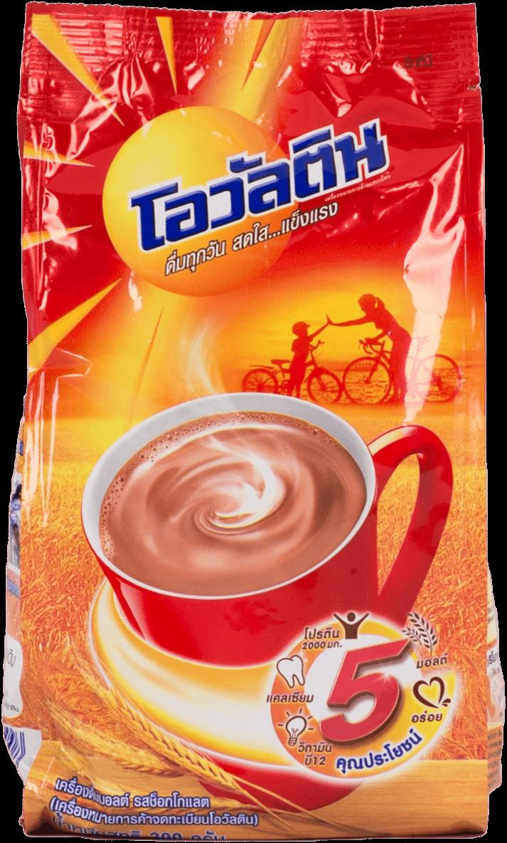 เครื่องดื่มมอลต์รสช็อกโกแลต โอวัลติน สูตรผสมนมโค