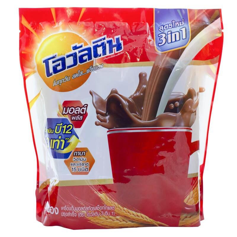 ผงเครื่องดื่มรสช็อกโกแลตชนิดซอง โอวัลติน 3 in 1 31 กรัม (1x18)