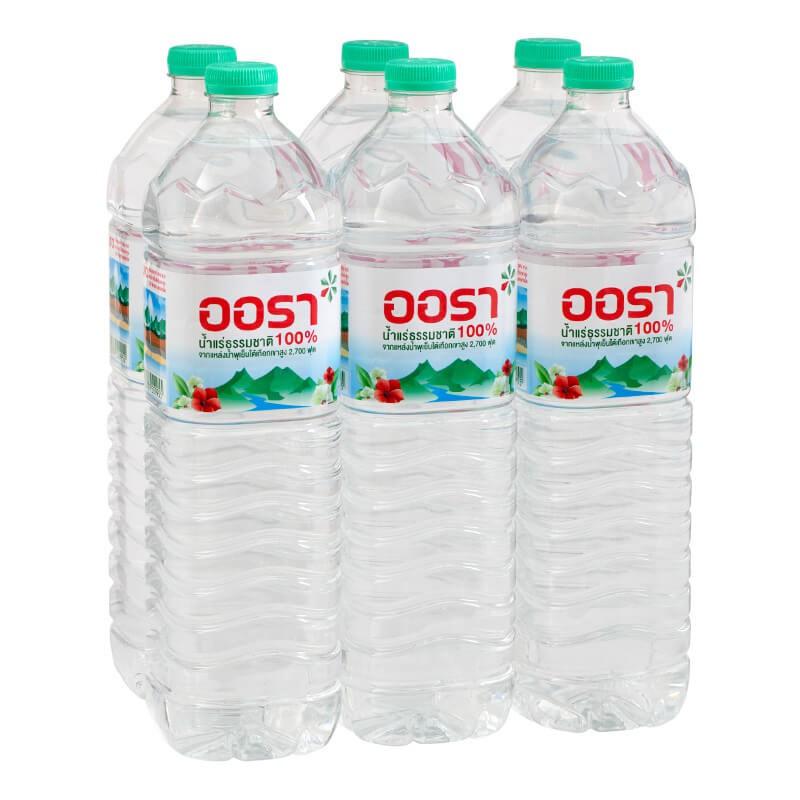 น้ำแร่ธรรมชาติ ตรา Aura 1.5 ลิตร