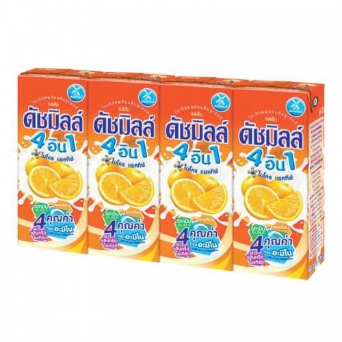 นมเปรี้ยวดัชมิลล์ 180ml รสส้ม (1x4)