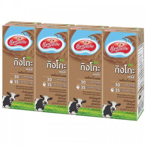 Magnolia Ginkgo Plus 180ml Chocolate แพ็ค 4 กล่อง