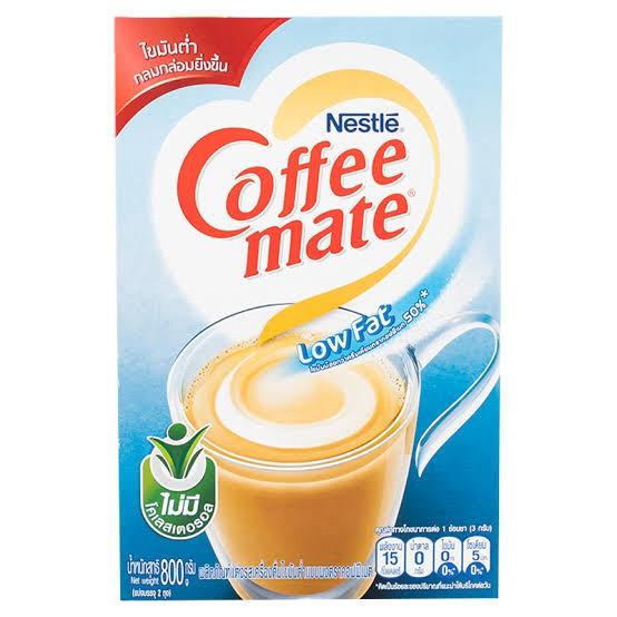 ครีมเทียมชนิดกล่อง กล่องสีฟ้า  Coffee Mate (Low Fat) 800 กรัม