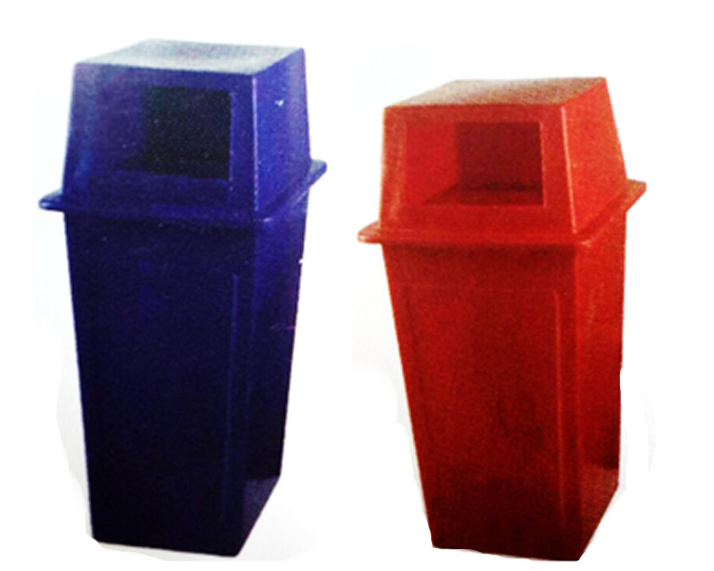 ถังขยะเหลี่ยม JB #DB12 (120 lt.) (52x52x104cm.)