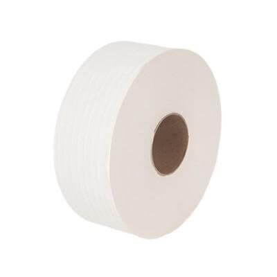 กระดาษชำระ แบบม้วน Kimsoft Jumbo Roll 1 ชั้น 620 ม. (1x12)
