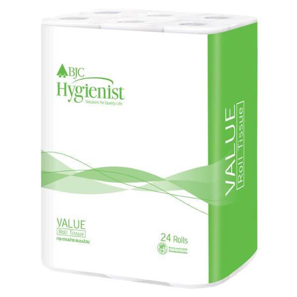 กระดาษทิชชูม้วน BJC Hygienist Value (1x24 ม้วน) 16324