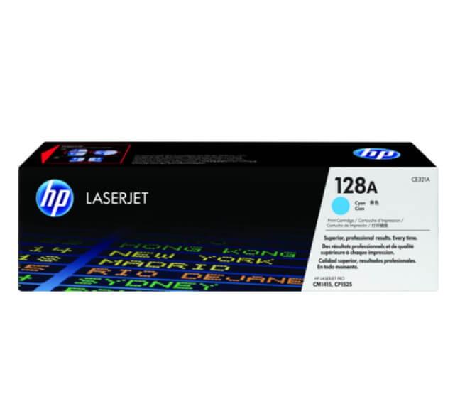 ตลับหมึกโทนเนอร์ HP 128A CE321A สีฟ้า