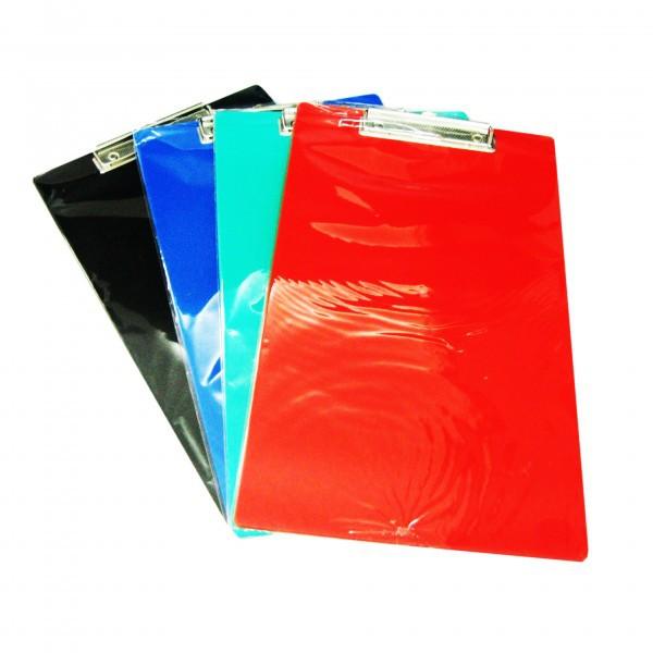 คลิปบอร์ดพลาสติก PK F4 คละสี